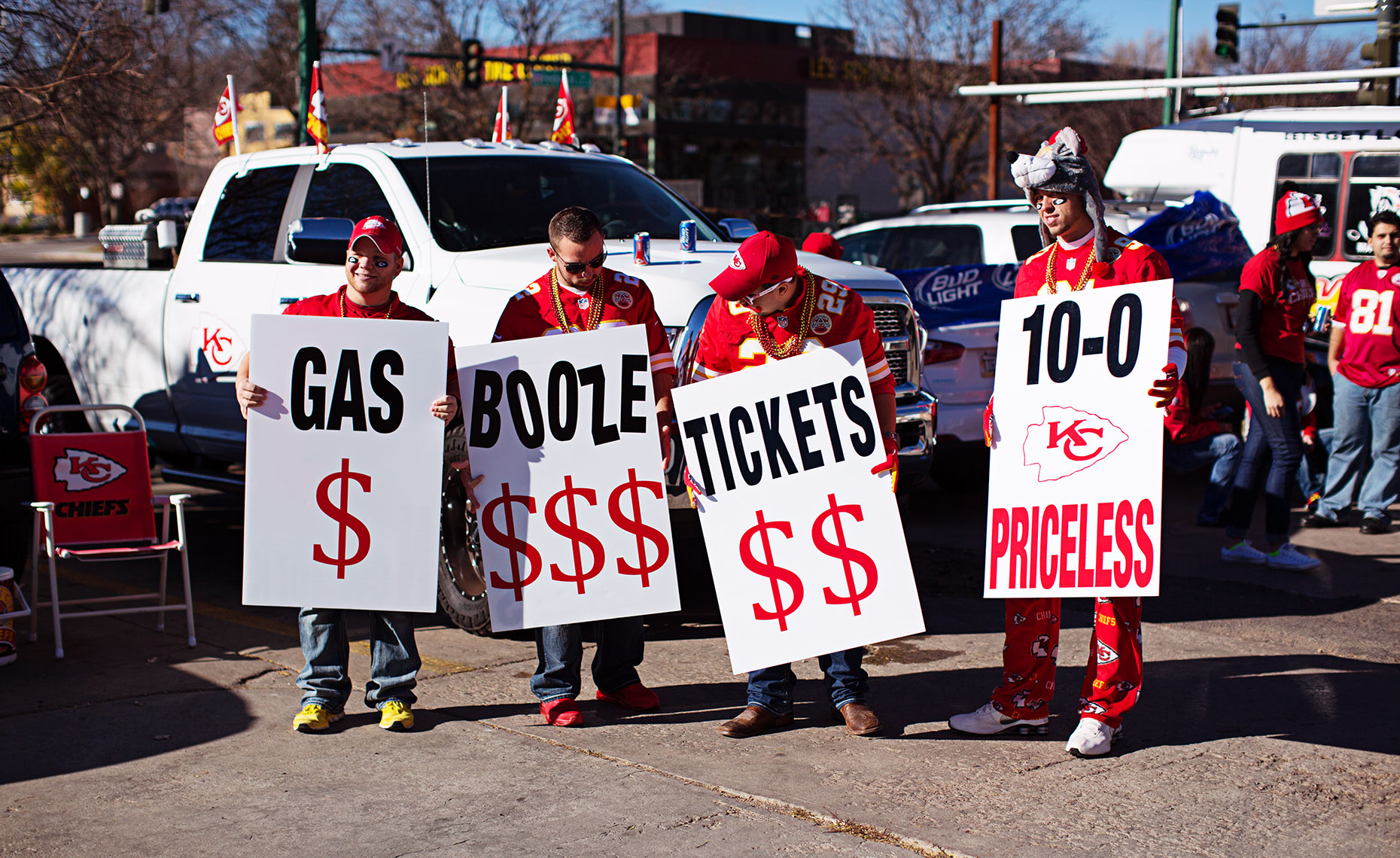 Sports Photographer STEVE BOYLE - Kansas City Chiefs Fans - NFL Football