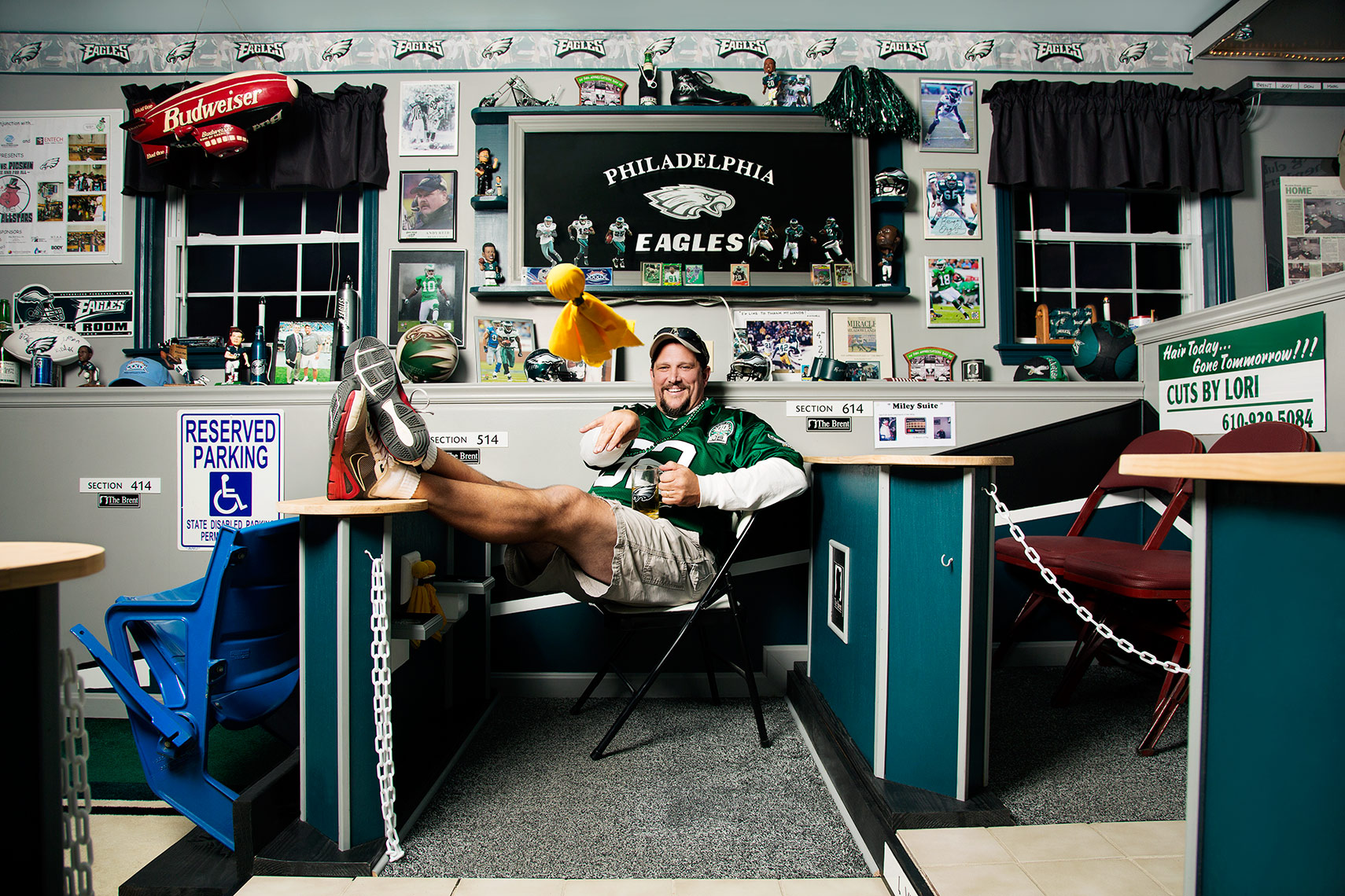Sports Photographer STEVE BOYLE - Philadelphia Eagles Fans - NFL Football