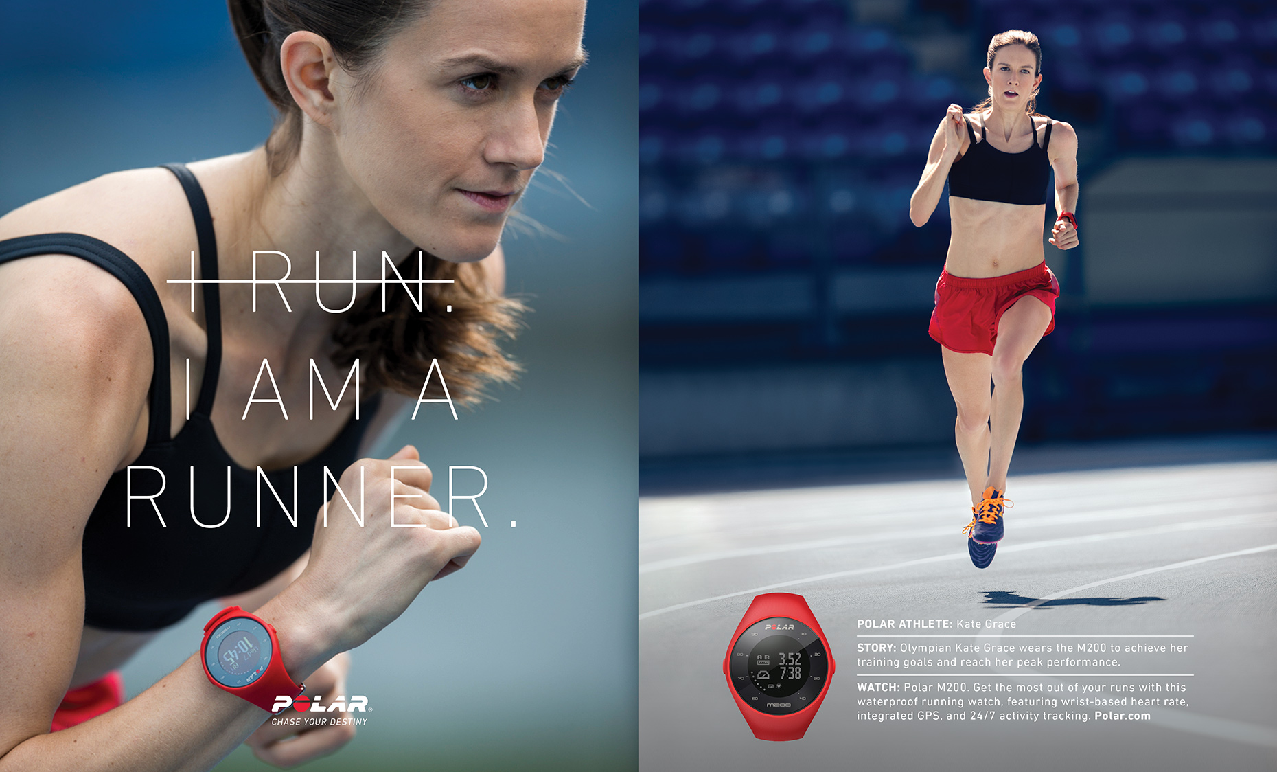 Sports Photographer STEVE BOYLE - Polar Heartrate Monitors, Fitness Trackers and GPS Watches - Kate Grace - Running