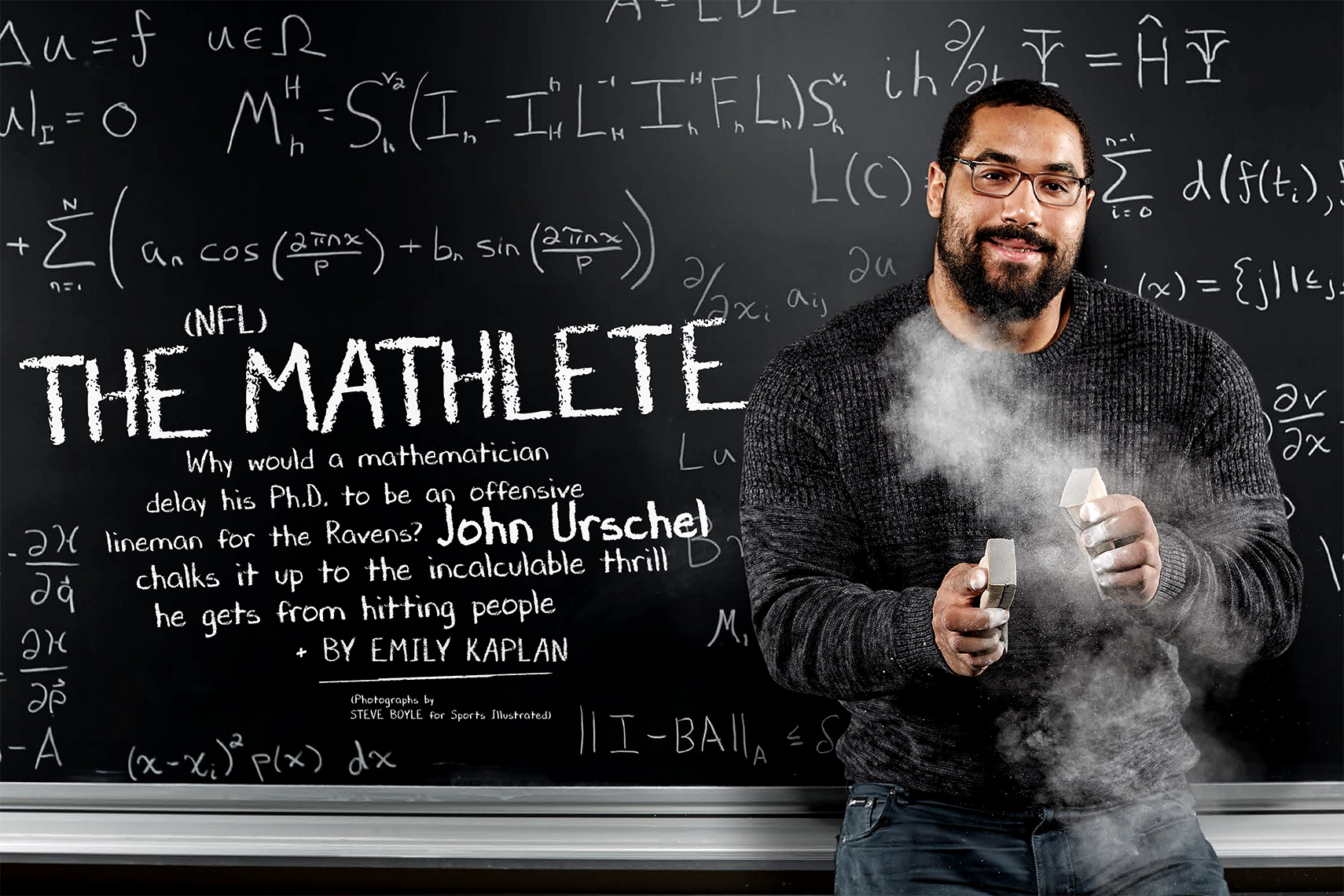 Sports Photographer STEVE BOYLE - John Urschel for Sports Illustrated