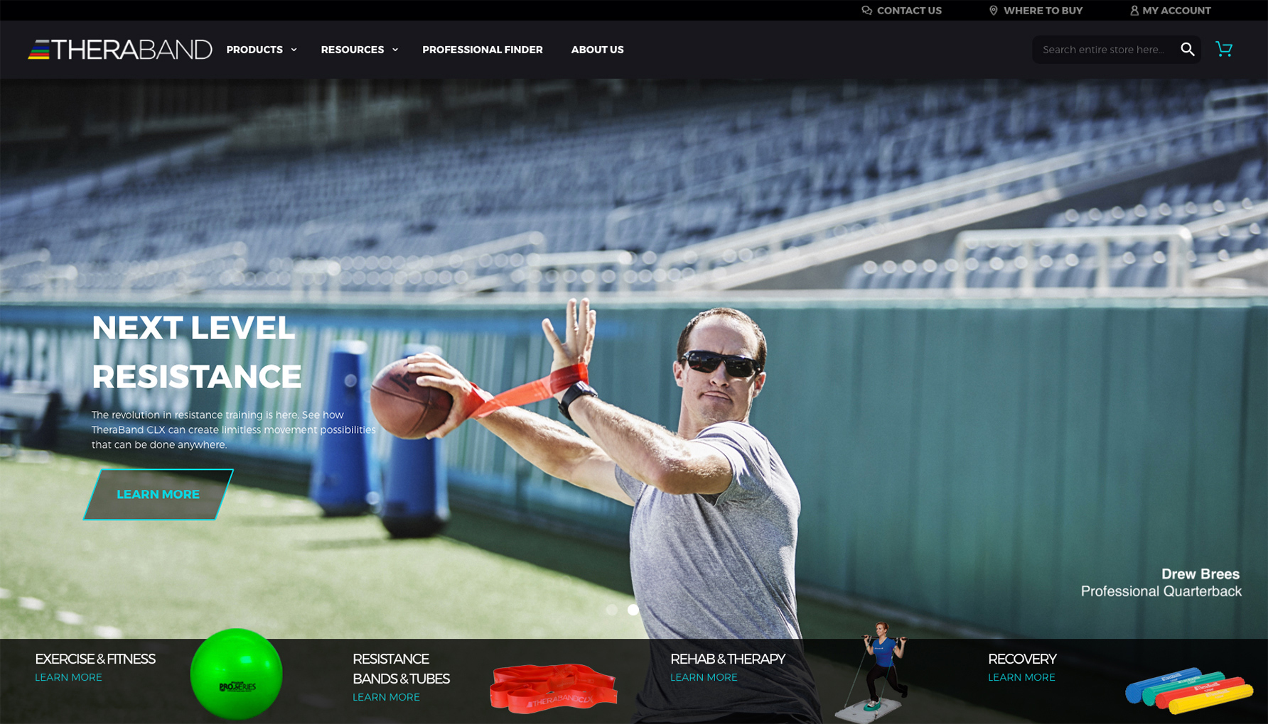 Sports Photographer STEVE BOYLE - Drew Brees for Theraband